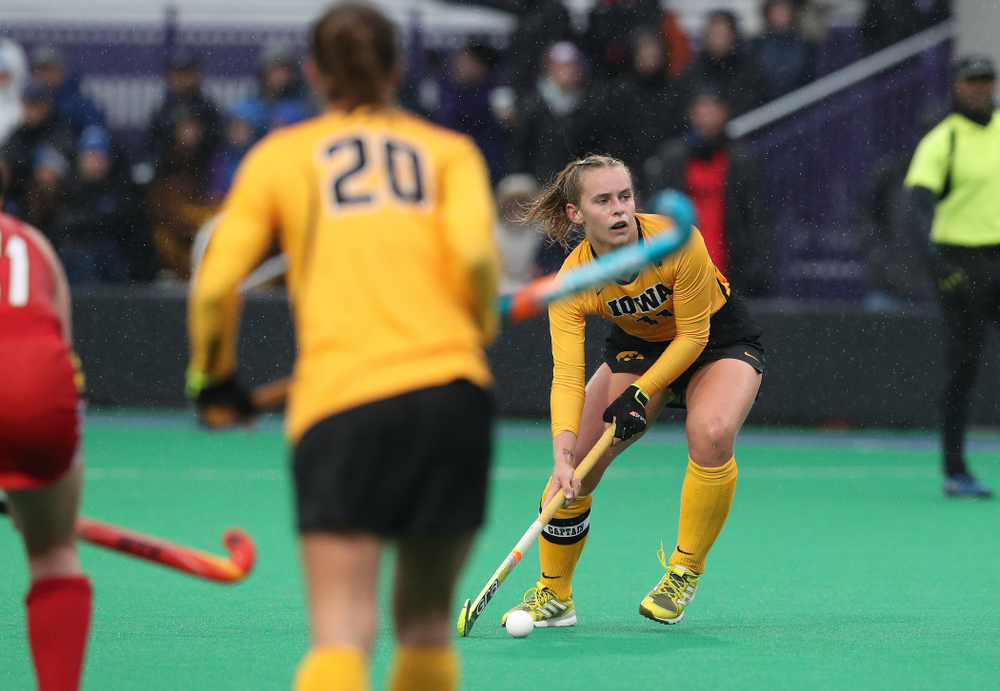 Iowa Hawkeyes Katie Birch (11) against Maryland during the championship game of the Big Ten Tournament Sunday, November 4, 2018 at Lakeside Field in Evanston, Ill. (Brian Ray/hawkeyesports.com)