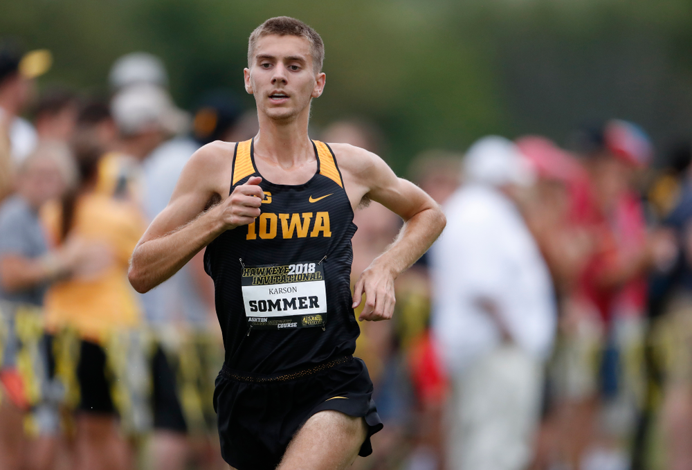 Karson Sommer during the Hawkeye Invitational Friday, August 31, 2018 at the Ashton Cross Country Course.  (Brian Ray/hawkeyesports.com)