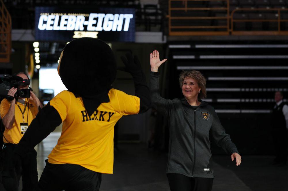 Iowa Hawkeyes head coach Lisa Bluder during the teamÕs Celebr-Eight event Wednesday, April 24, 2019 at Carver-Hawkeye Arena. (Brian Ray/hawkeyesports.com)
