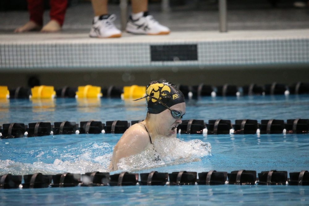 Lexi Horner during Iowa women's swimming and diving vs Rutgers on Friday, November 8, 2019 at the Campus Wellness and Recreation Center. (Lily Smith/hawkeyesports.com)
