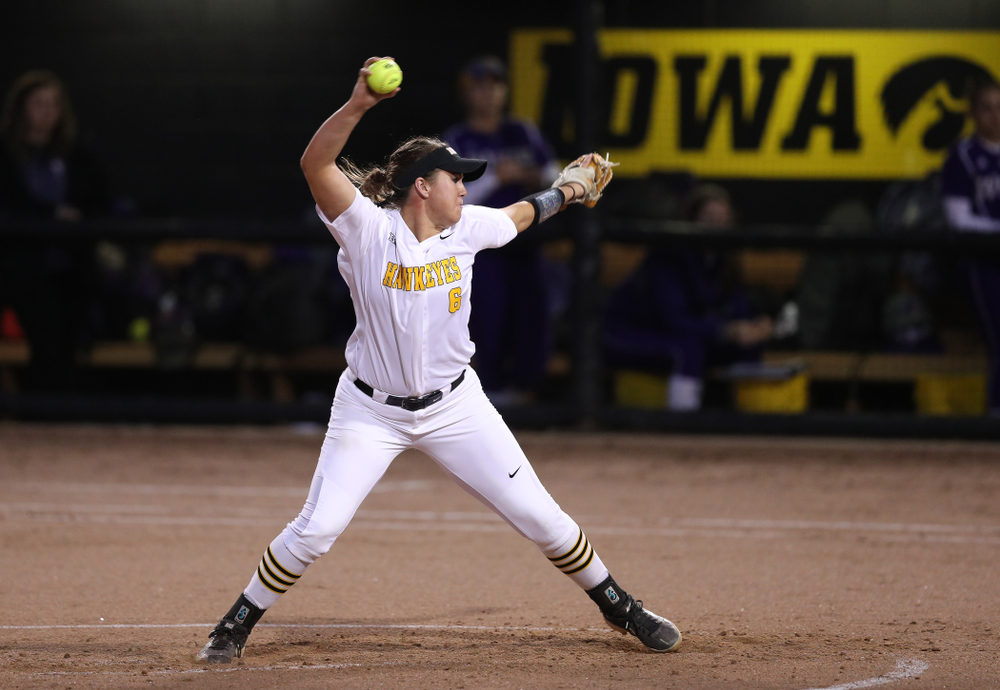 Iowa Hawkeyes Erin Riding (6) against Western Illinois Wednesday, March 27, 2019 at Pearl Field. (Brian Ray/hawkeyesports.com)