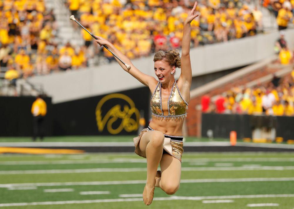 Hawkeye Marching Band Golden Girl ?Kylene Spanbauer against the Northern Illinois Huskies Saturday, September 1, 2018 at Kinnick Stadium. (Brian Ray/hawkeyesports.com)