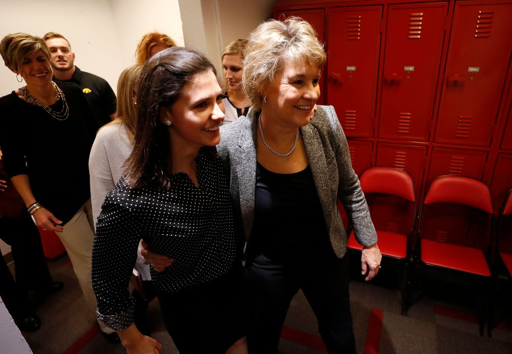 Iowa Hawkeyes head coach Lisa Bluder and director of basketball operations Kathryn Reynolds