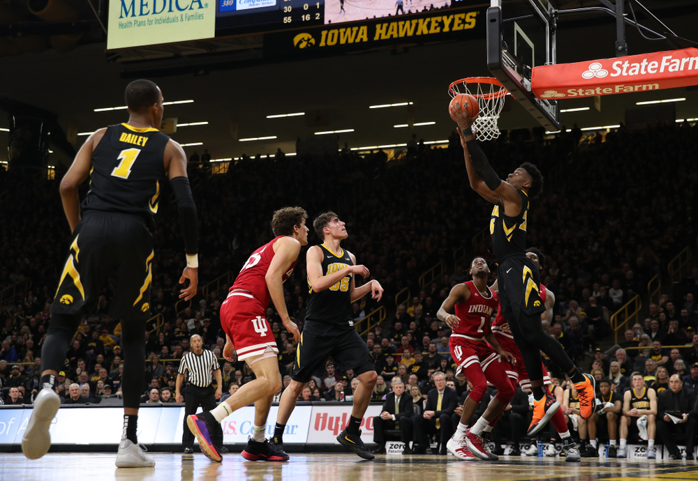 Iowa Hawkeyes forward Tyler Cook (25) against the Indiana Hoosiers Friday, February 22, 2019 at Carver-Hawkeye Arena. (Brian Ray/hawkeyesports.com)