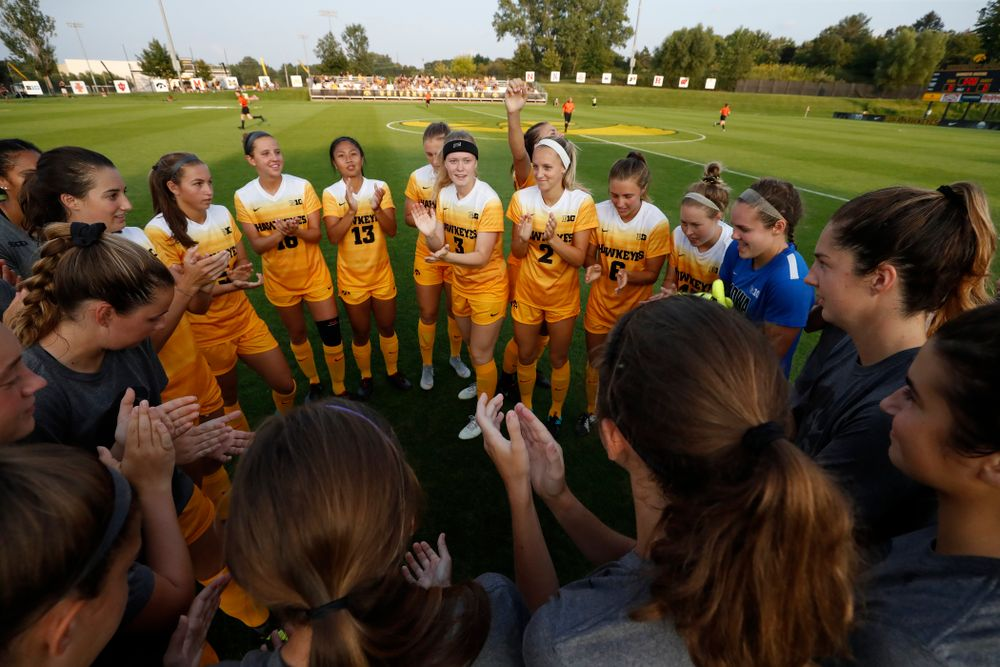 The Iowa Hawkeyes against the Missouri Tigers Friday, August 17, 2018 at the Iowa Soccer Complex. (Brian Ray/hawkeyesports.com)