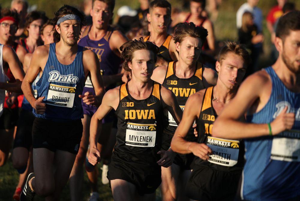 IowaÕs Nathan Mylenek runs in the 2019 Hawkeye Invitational Friday, September 6, 2019 at the Ashton Cross Country Course. (Brian Ray/hawkeyesports.com)