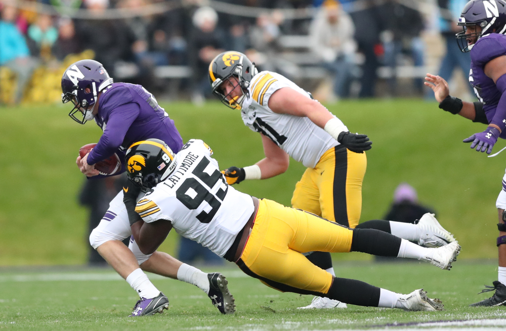 Iowa Hawkeyes defensive lineman Cedrick Lattimore (95) against the Northwestern Wildcats Saturday, September 28, 2019 at Kinnick Stadium. (Max Allen/hawkeyesports.com)