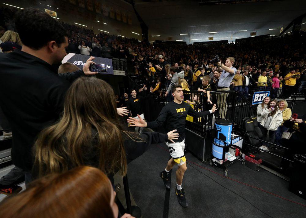 Iowa Hawkeyes forward Luka Garza (55) against Penn State Saturday, February 29, 2020 at Carver-Hawkeye Arena. (Brian Ray/hawkeyesports.com)