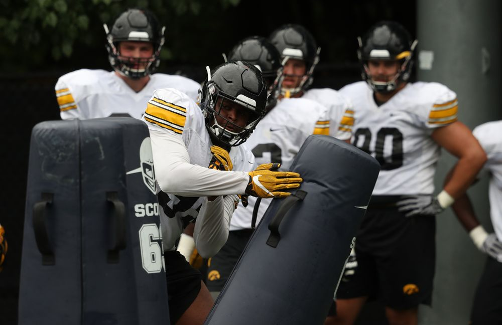 Iowa Hawkeyes defensive lineman Cedrick Lattimore (95) during practice No. 4 of Fall Camp Monday, August 6, 2018 at the Hansen Football Performance Center. (Brian Ray/hawkeyesports.com)