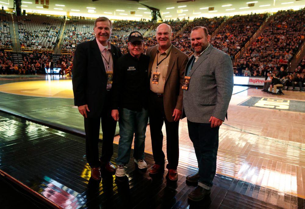 Steve Banach, Dan Gable, Lou Banach, and Ed Banach