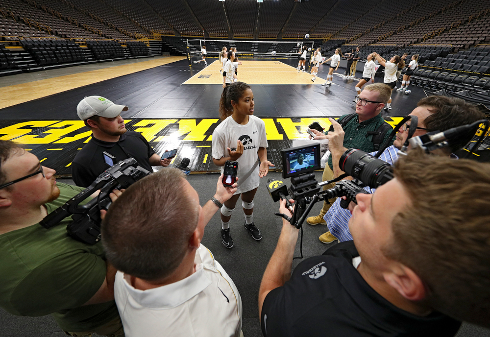 Iowa's Brie Orr (7) during Iowa Volleyball's Media Day at Carver-Hawkeye Arena in Iowa City on Friday, Aug 23, 2019. (Stephen Mally/hawkeyesports.com)