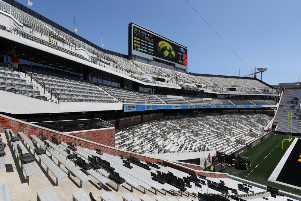 The new north end zone of Kinnick Stadium Friday, August 9, 2019. (Brian Ray/hawkeyesports.com)