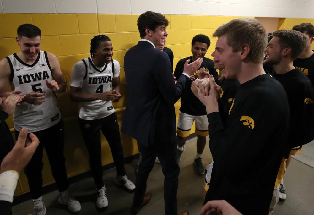 Iowa Hawkeyes forward Patrick McCaffery (22) against the Minnesota Golden Gophers Monday, December 9, 2019 at Carver-Hawkeye Arena. (Brian Ray/hawkeyesports.com)