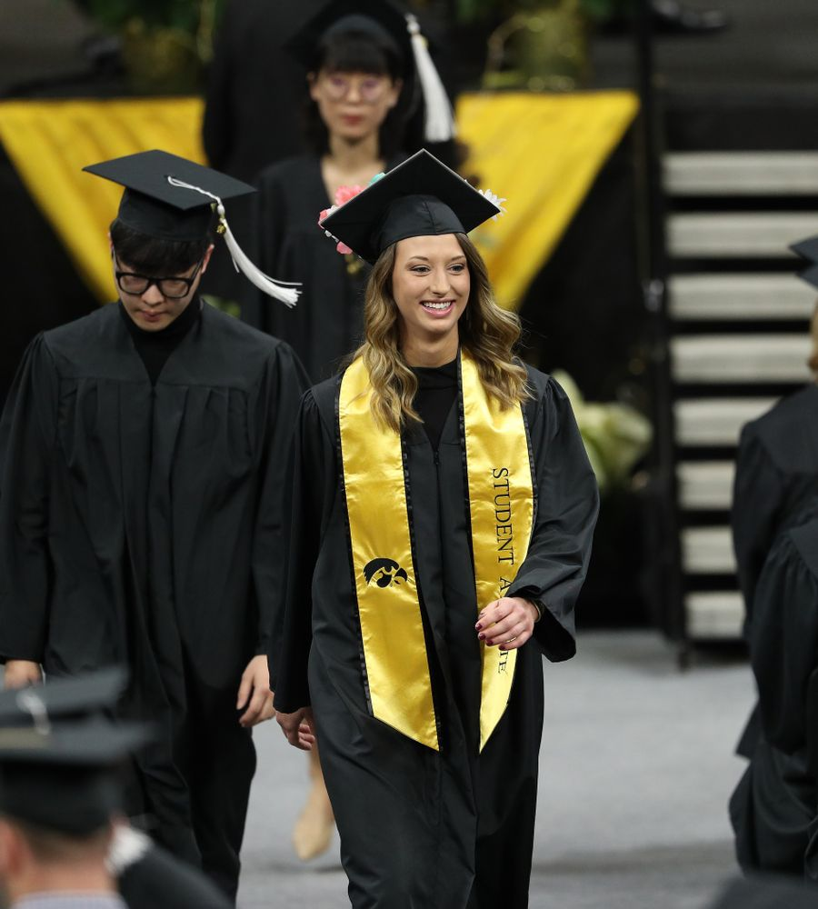 Iowa Volleyball's Kasey Reuter during the Fall Commencement Ceremony  Saturday, December 15, 2018 at Carver-Hawkeye Arena. (Brian Ray/hawkeyesports.com)