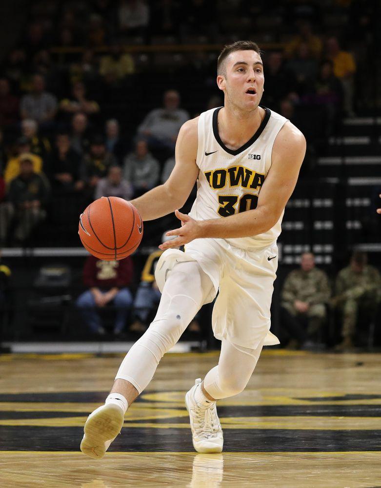 Iowa Hawkeyes guard Connor McCaffery (30) against UW Green Bay Sunday, November 11, 2018 at Carver-Hawkeye Arena. (Brian Ray/hawkeyesports.com)