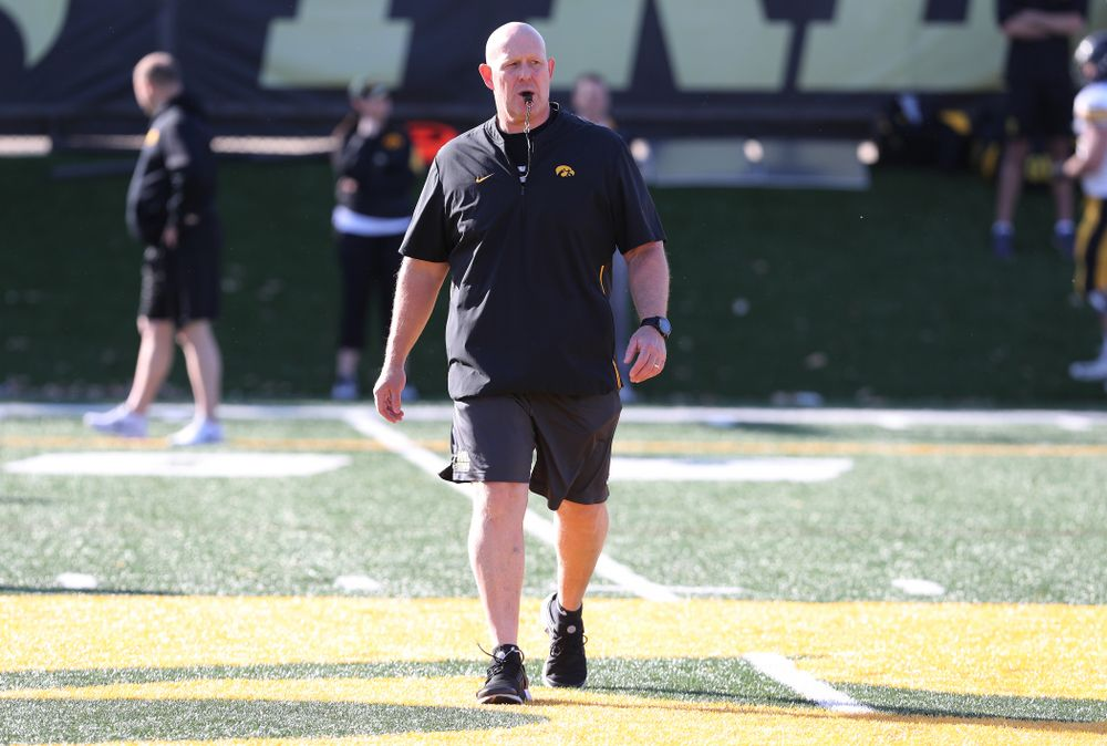 Iowa Hawkeyes strength and conditioning coordinator Chris Doyle during the teamÕs final spring practice Friday, April 26, 2019 at the Kenyon Football Practice Facility. (Brian Ray/hawkeyesports.com)