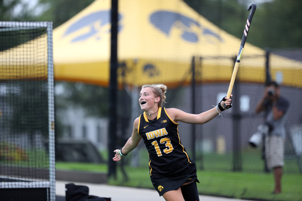 Iowa Hawkeyes forward Leah Zellner (13) during a 2-1 victory against the Ohio State Buckeyes Friday, September 27, 2019 at Grant Field. (Brian Ray/hawkeyesports.com)
