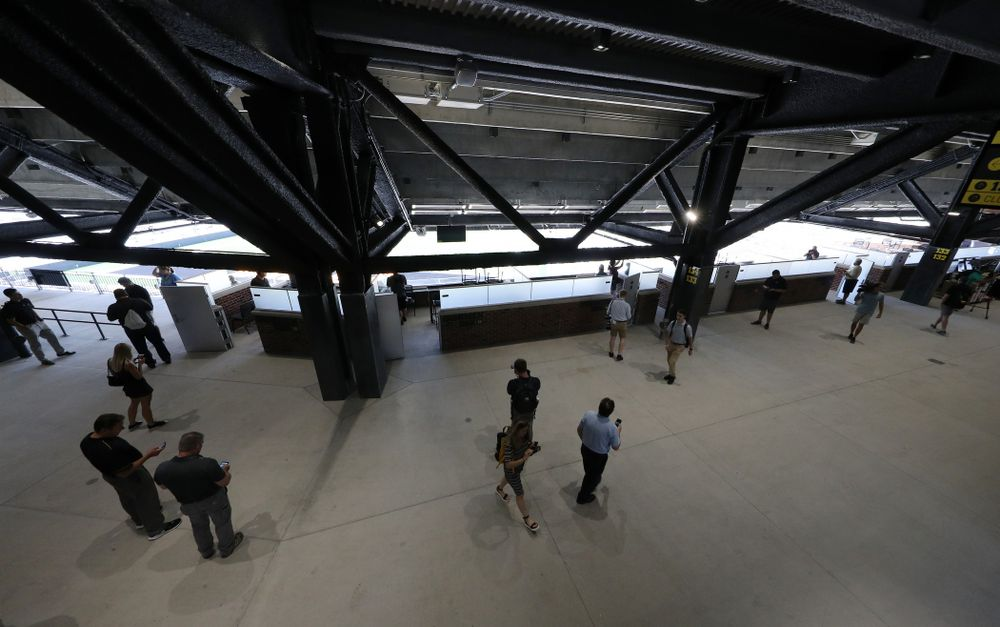 The Main Concourse of the new north end zone of Kinnick Stadium Friday, August 9, 2019. (Brian Ray/hawkeyesports.com)