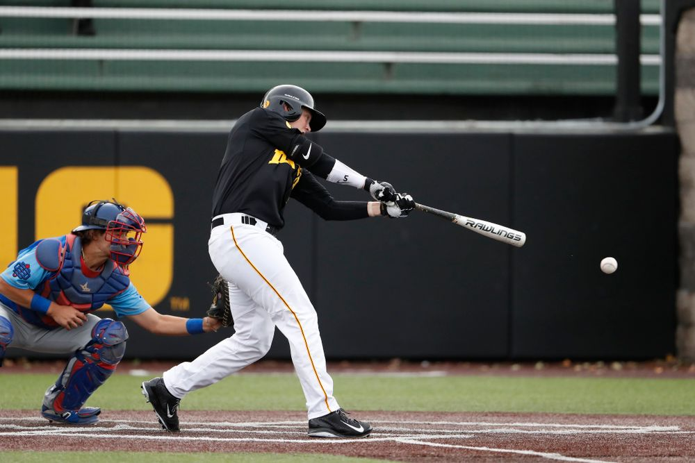 Zeb Adreon against the Ontario Blue Jays Friday, September 21, 2018 at Duane Banks Field. (Brian Ray/hawkeyesports.com)