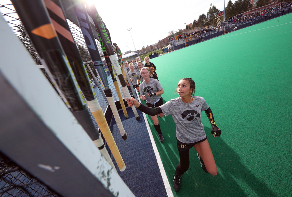 Iowa Hawkeyes forward Ciara Smith (17) before their game against Penn State in the 2019 Big Ten Field Hockey Tournament Championship Game Sunday, November 10, 2019 in State College. (Brian Ray/hawkeyesports.com)
