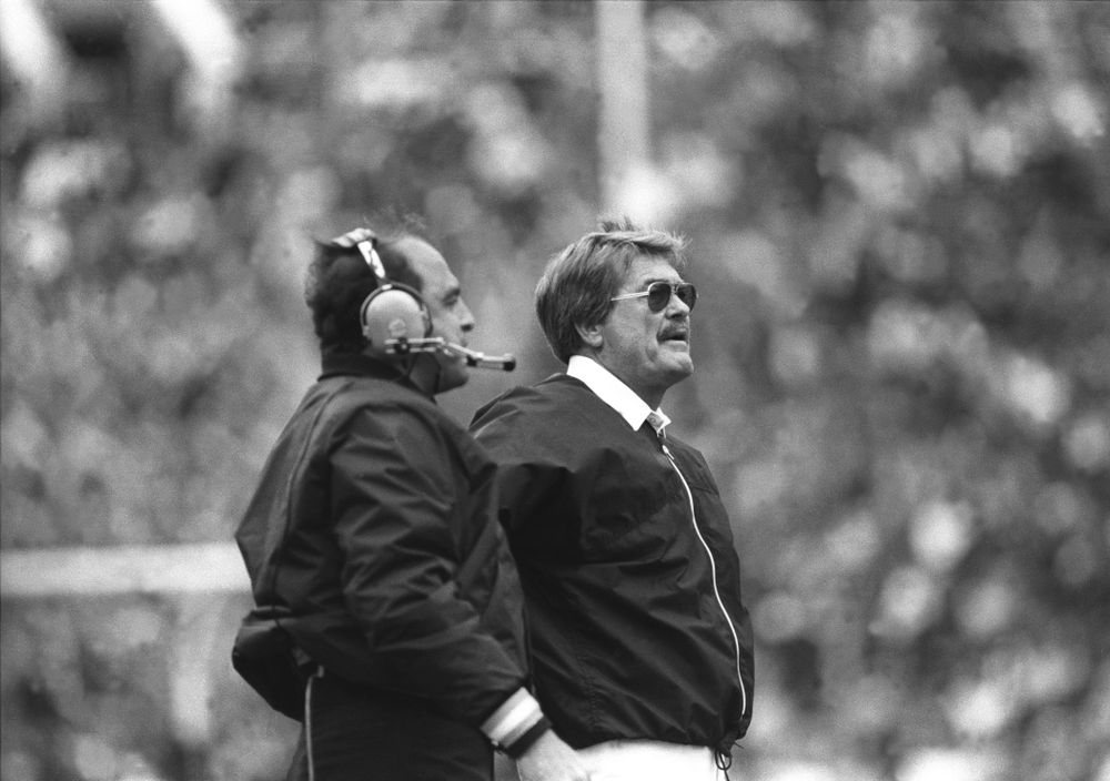 Historic Photos of Hayden Fry form Oct. 5, 1985