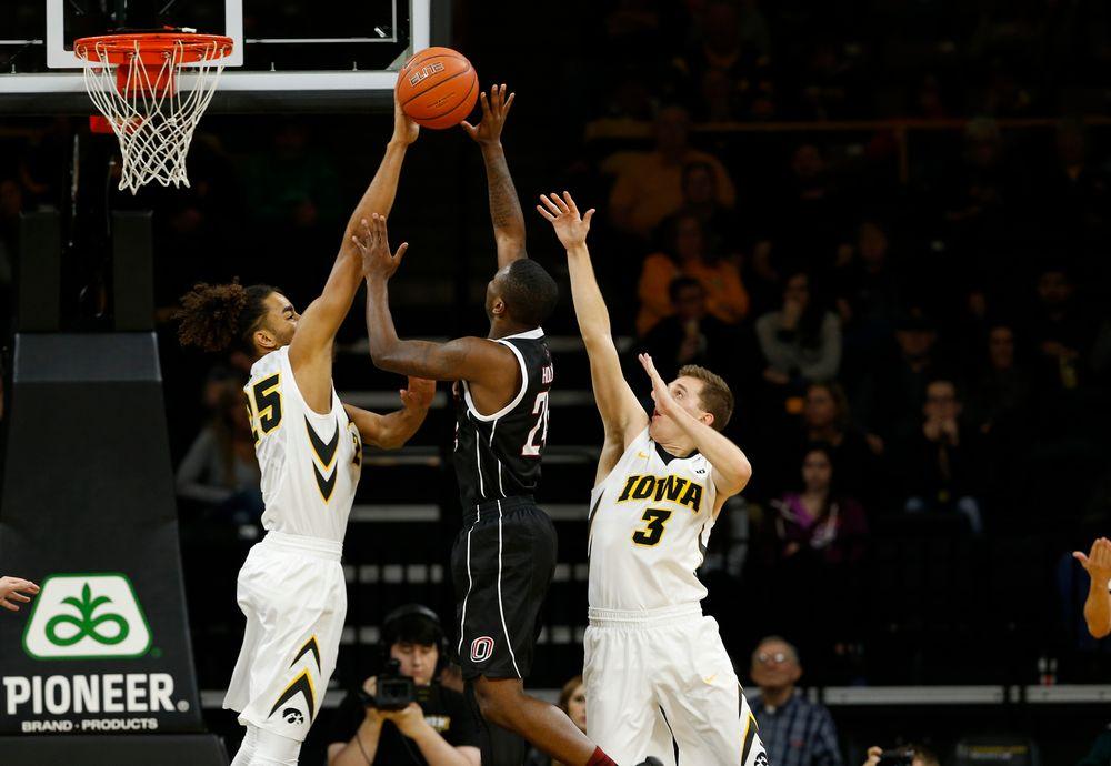 Iowa Hawkeyes forward Dom Uhl (25)