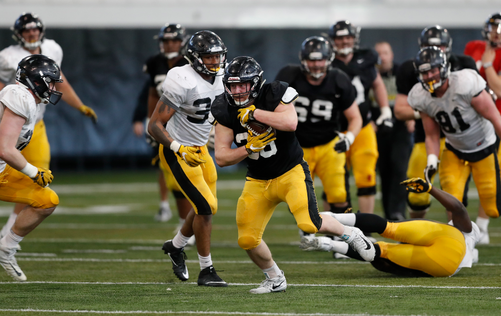 Iowa Hawkeyes fullback Brady Ross (36) Wednesday, April 4, 2018 at the Hansen Football Performance Center. (Brian Ray/hawkeyesports.com)