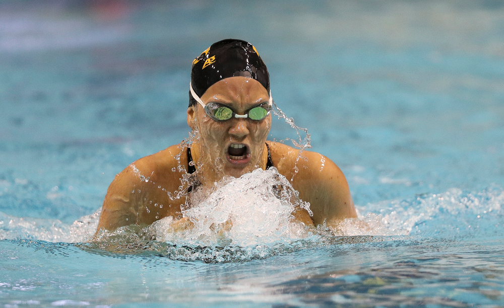 Iowa's Devin Jacobs competes in the 400-yard IM during the third day of the Hawkeye Invitational at the Campus Recreation and Wellness Center on November 16, 2018. (Tork Mason/hawkeyesports.com)