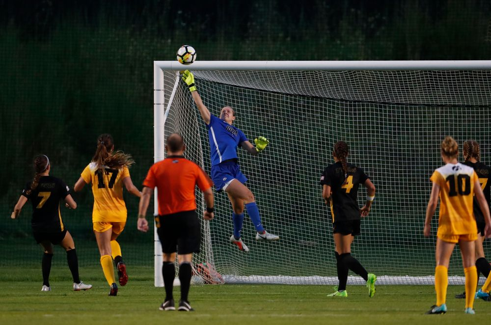 Iowa Hawkeyes Claire Graves (1) against the Missouri Tigers Friday, August 17, 2018 at the Iowa Soccer Complex. (Brian Ray/hawkeyesports.com)