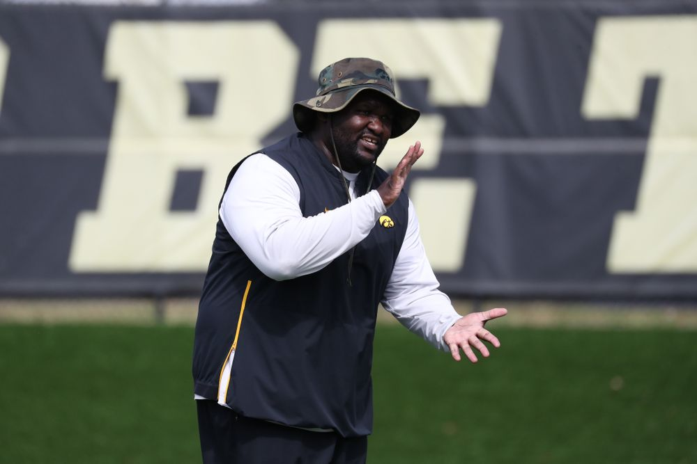 Iowa Hawkeyes defensive line coach Kelvin Bell