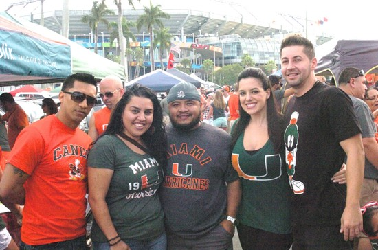 Tailgating at SunLife Stadium before a game against the Wake Forest Demon Deacons at Sun Life Stadium on October 26, 2013.  Photo by Steven Murphy/SPN...