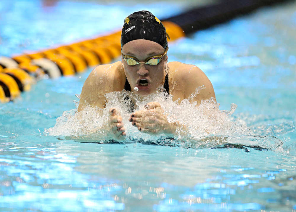 Iowa's Grace Reeder swims the women's 400 yard individual medley C final event during the 2020 Women's Big Ten Swimming and Diving Championships at the Campus Recreation and Wellness Center in Iowa City on Friday, February 21, 2020. (Stephen Mally/hawkeyesports.com)