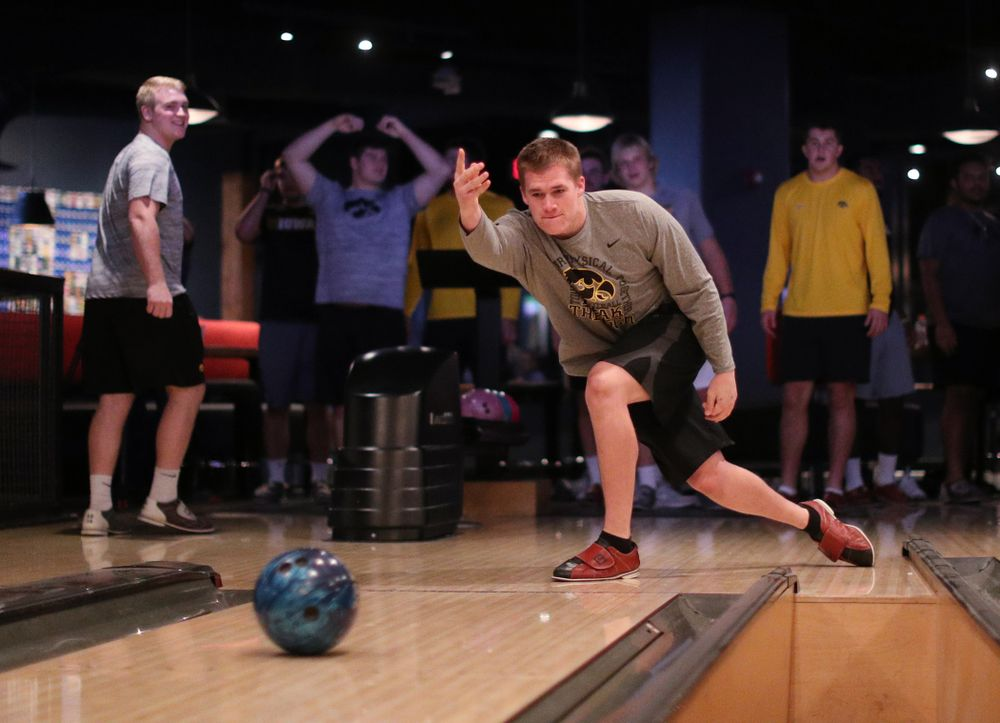 Iowa Hawkeyes linebacker Seth Benson (44) during the Players' Night at Splitsville Friday, December 28, 2018 in the Sparkman Wharf area of Tampa, FL.(Brian Ray/hawkeyesports.com)