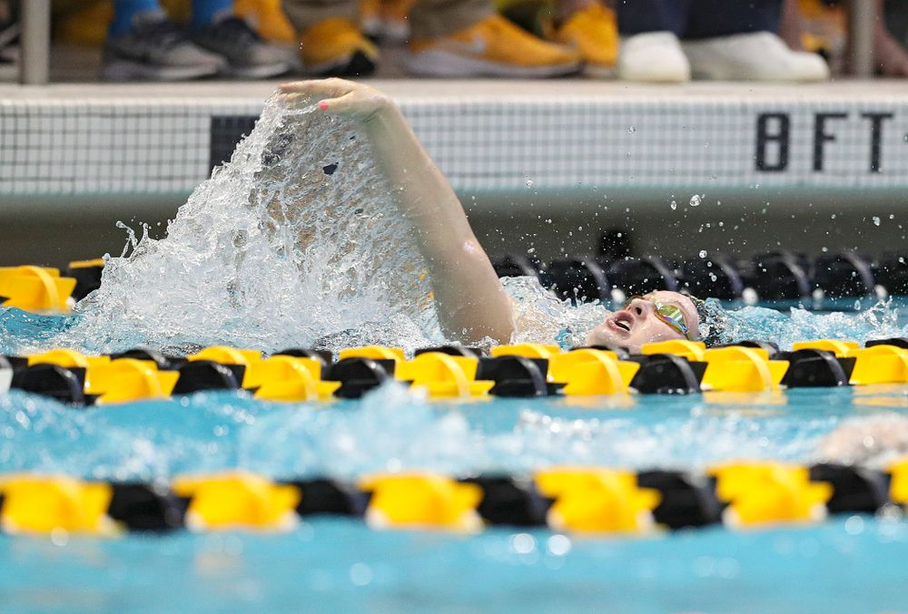 Iowa's Lexi Horner swims the women's 400 yard individual medley preliminary event during the 2020 Women's Big Ten Swimming and Diving Championships at the Campus Recreation and Wellness Center in Iowa City on Friday, February 21, 2020. (Stephen Mally/hawkeyesports.com)