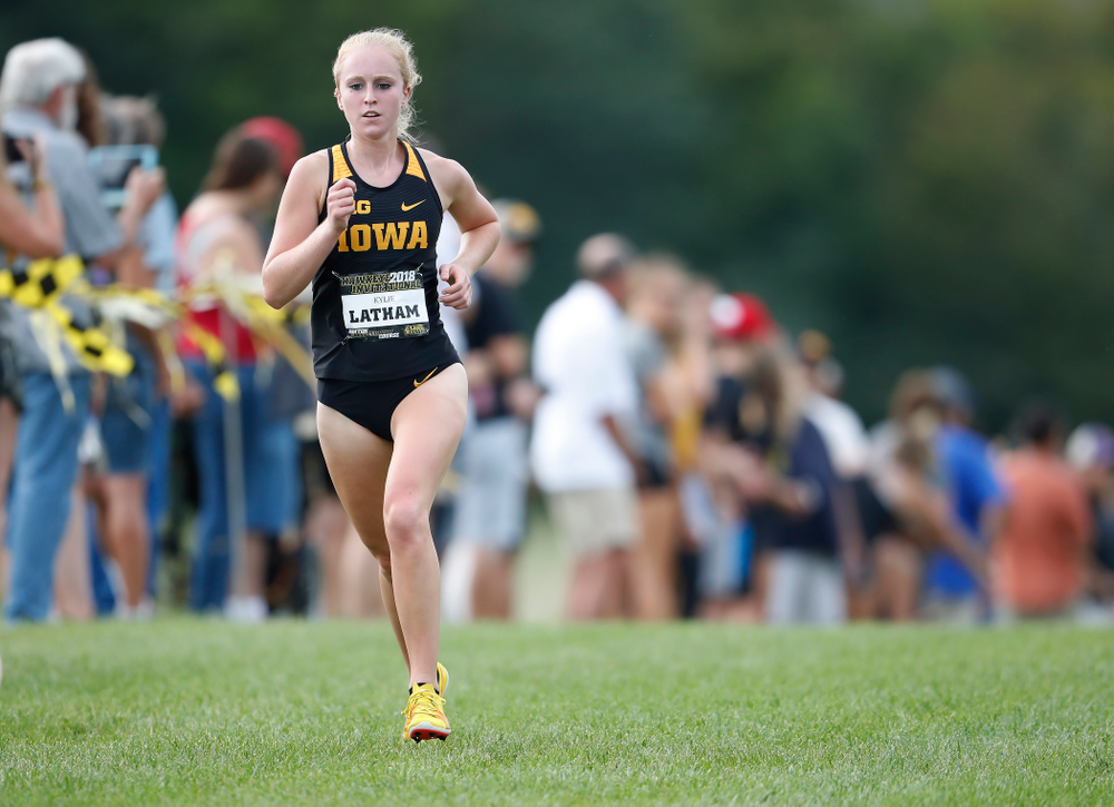 Kylie Latham during the Hawkeye Invitational Friday, August 31, 2018 at the Ashton Cross Country Course.  (Brian Ray/hawkeyesports.com)