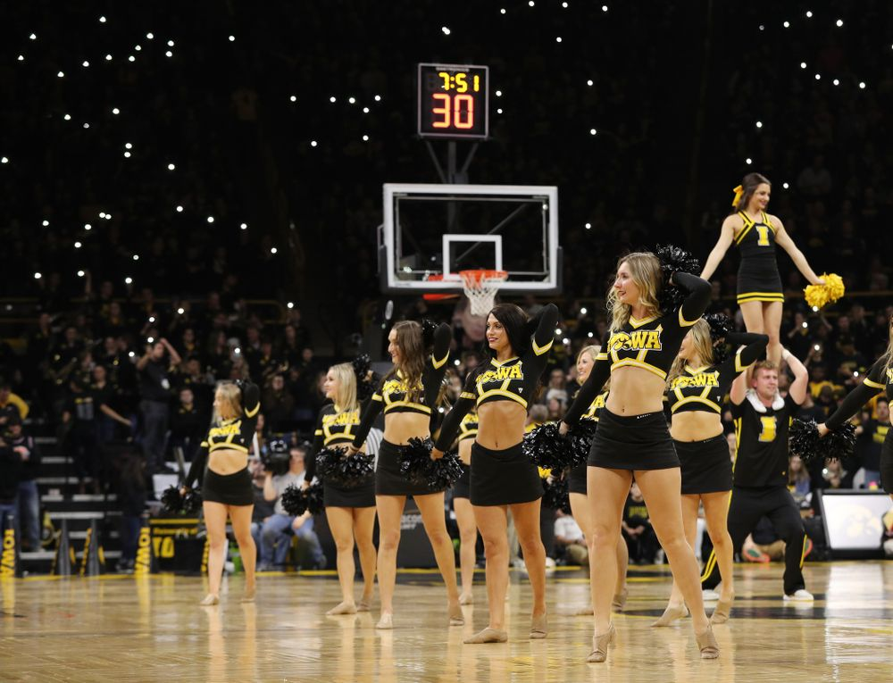 The iowa Dance Team against the Indiana Hoosiers Friday, February 22, 2019 at Carver-Hawkeye Arena. (Brian Ray/hawkeyesports.com)