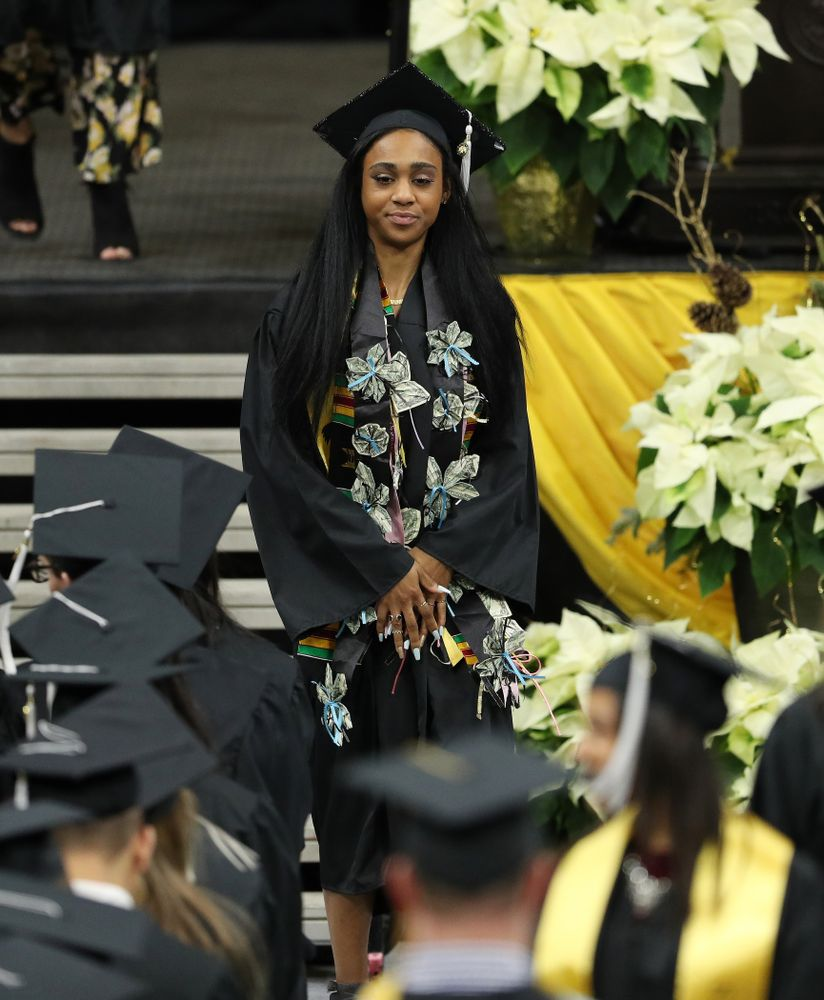 Iowa Briana Guillory during the Fall Commencement Ceremony  Saturday, December 15, 2018 at Carver-Hawkeye Arena. (Brian Ray/hawkeyesports.com)