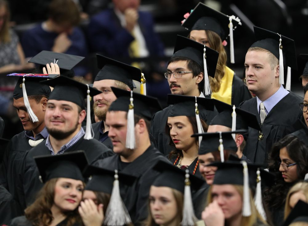 Iowa Football's Miguel Recinos during the Fall Commencement Ceremony  Saturday, December 15, 2018 at Carver-Hawkeye Arena. (Brian Ray/hawkeyesports.com)