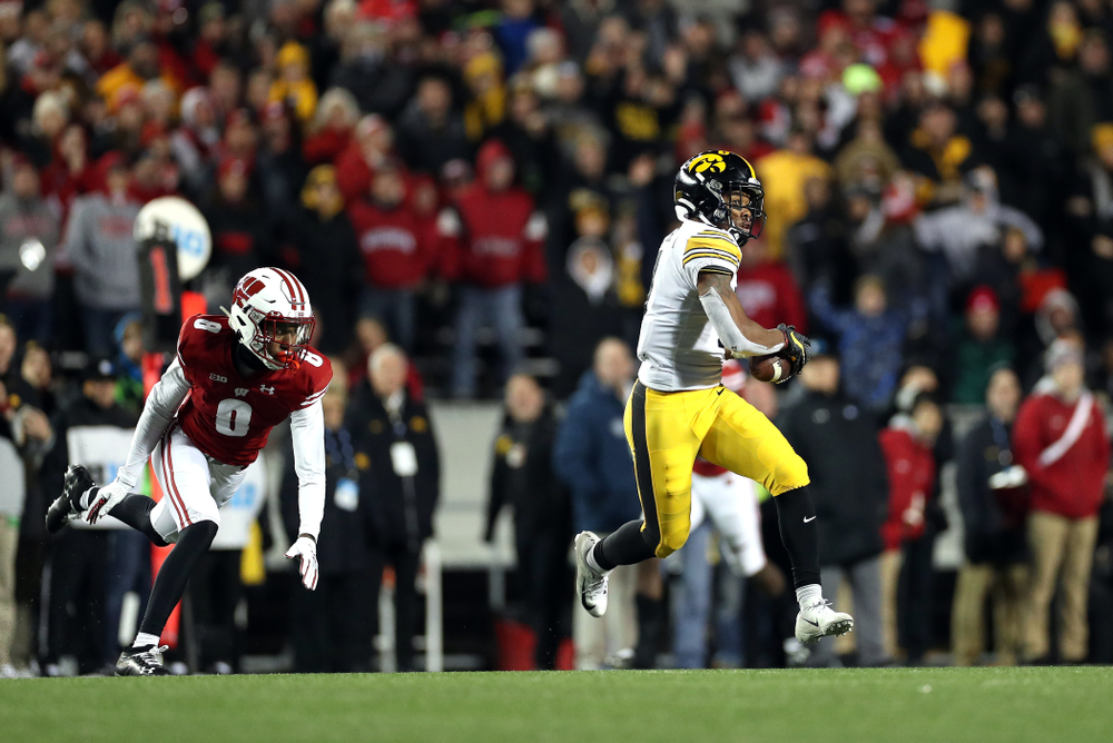 Iowa Hawkeyes wide receiver Tyrone Tracy Jr. (3) against the Wisconsin Badgers Saturday, November 9, 2019 at Camp Randall Stadium in Madison, Wisc. (Brian Ray/hawkeyesports.com)