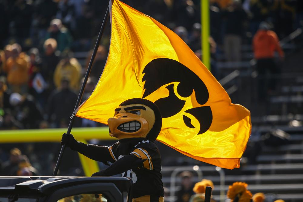 Herky the Hawk during Iowa football vs Illinois on Saturday, November 23, 2019 at Kinnick Stadium. (Lily Smith/hawkeyesports.com)