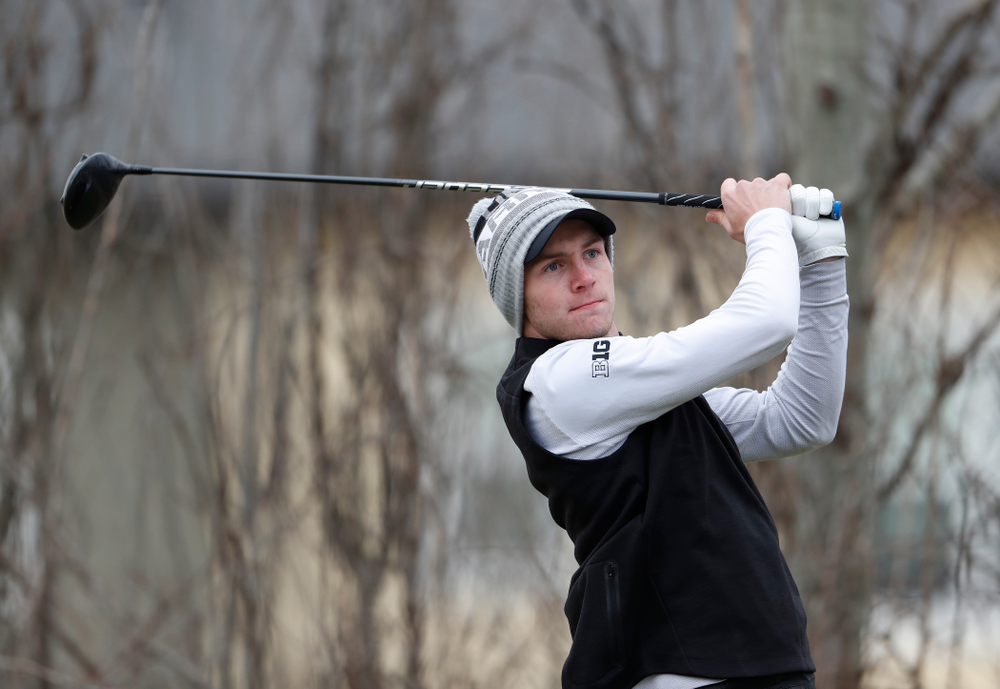 Jake Rowe during the 2018 Hawkeye Invitational  Friday, April 13, 2018 at Finkbine Golf Course. (Brian Ray/hawkeyesports.com)