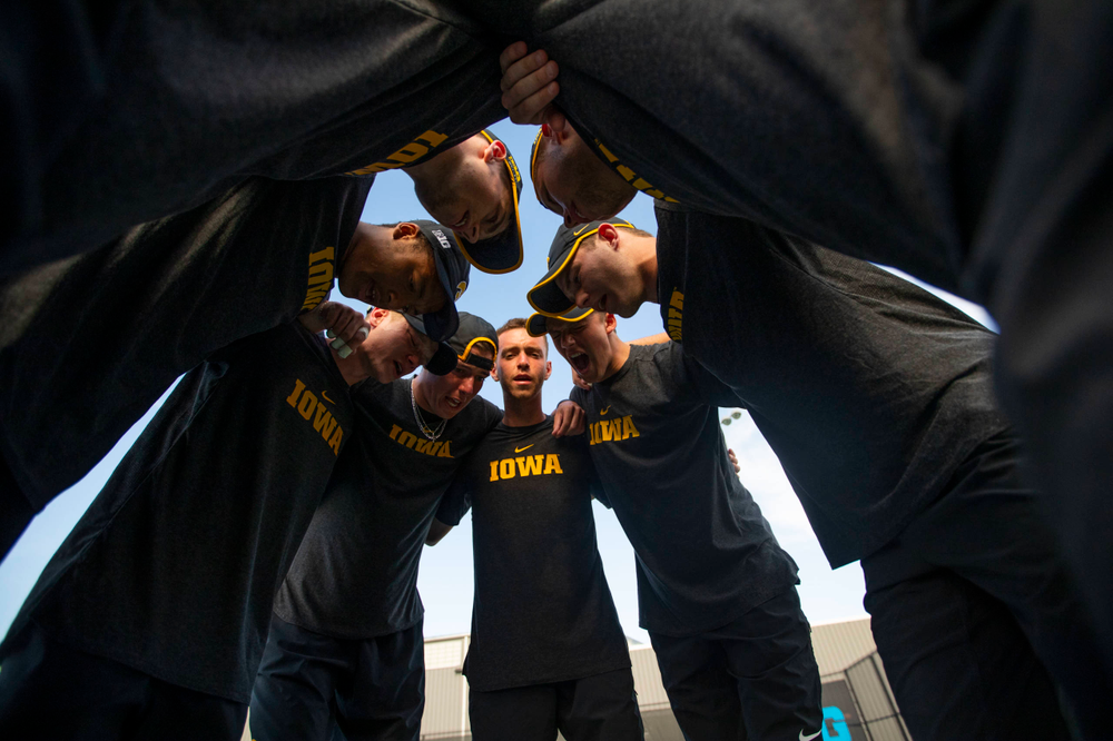 The Iowa menÕs tennis team at tennis vs Illinois State on Sunday, April 21, 2019 at the Hawkeye Tennis and Recreation Complex. (Lily Smith/hawkeyesports.com)