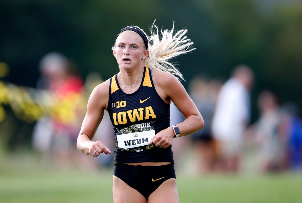 Aly Weum during the Hawkeye Invitational Friday, August 31, 2018 at the Ashton Cross Country Course.  (Brian Ray/hawkeyesports.com)