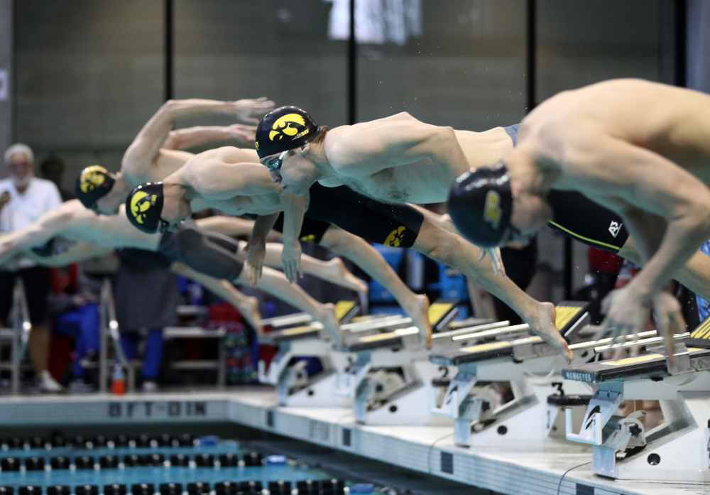 Iowa's Jack Smith swims the 50 yard freestyle  Thursday, November 15, 2018 during the 2018 Hawkeye Invitational at the Campus Recreation and Wellness Center. (Brian Ray/hawkeyesports.com)