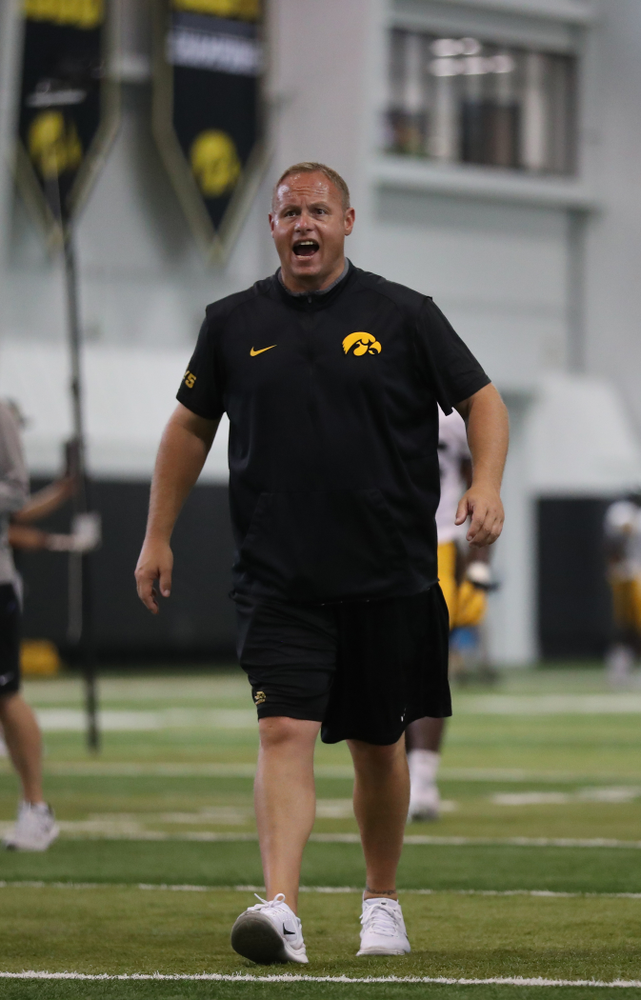 Iowa Hawkeyes linebackers coach Seth Wallace