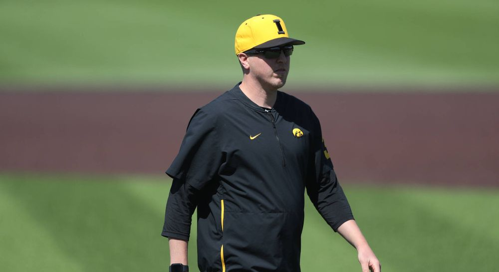 Pitching coach Tom Gorzelanny during game two against UC Irvine Saturday, May 4, 2019 at Duane Banks Field. (Brian Ray/hawkeyesports.com)