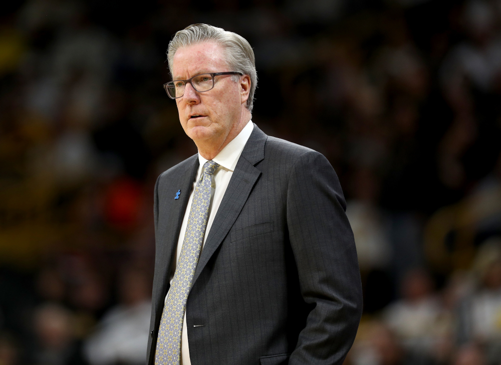 Iowa Hawkeyes head coach Fran McCaffery against the Illinois Fighting Illini Sunday, February 2, 2020 at Carver-Hawkeye Arena. (Brian Ray/hawkeyesports.com)