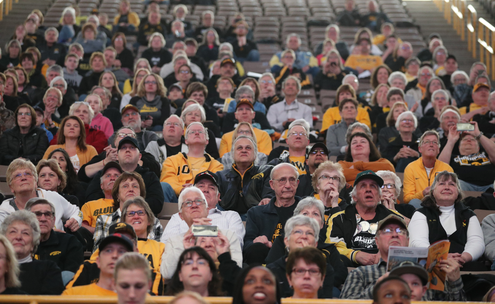 Fans during a celebration of the Iowa Hawkeyes Big Ten Women's Basketball Tournament championship Monday, March 18, 2019 at Carver-Hawkeye Arena. (Brian Ray/hawkeyesports.com)