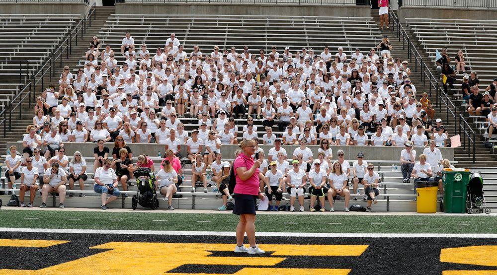 The 2018 Iowa Ladies Football Academy  Saturday, June 9, 2018 at Kinnick Stadium. (Brian Ray/hawkeyesports.com)