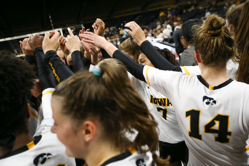 The Iowa Hawkeyes against Coastal Carolina Friday, September 20, 2019 at Carver-Hawkeye Arena. (Lily Smith/hawkeyesports.com)